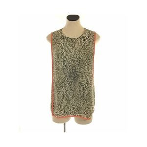 Vince Camuto Sleeveless Blouse Top Leopard Print